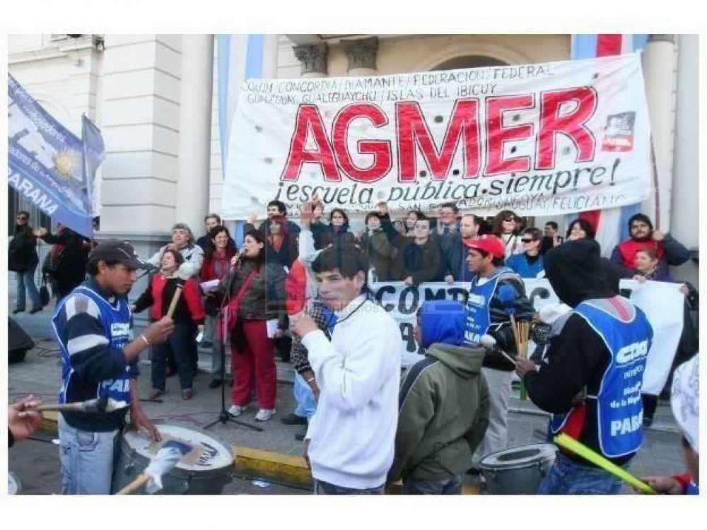 """Agmer calificó de """"contundente"""" la primera jornada de protesta"""