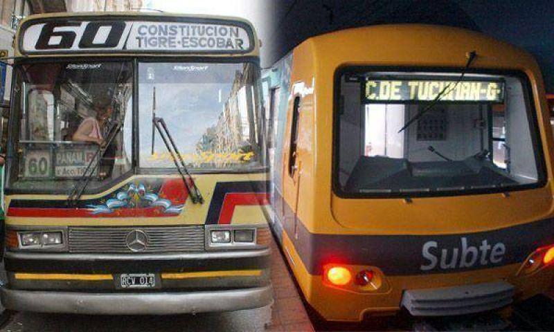 Mañana suben las tarifas de colectivos, trenes y subtes