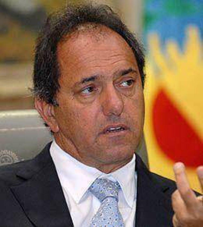 Papeleras: Scioli respaldó a Urribarri y pidió que se levanten los cortes de ruta
