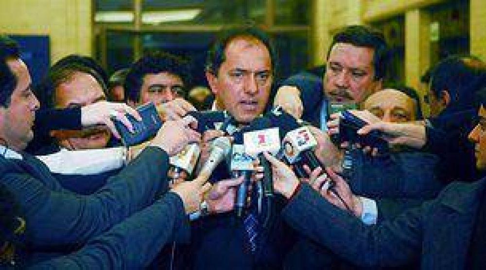 Scioli volvió a apoyar la decisión de liberar los cortes en Entre Ríos
