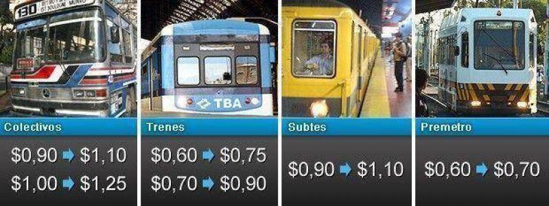 En medio de quejas de usuarios, rige el aumento en las tarifas del transporte