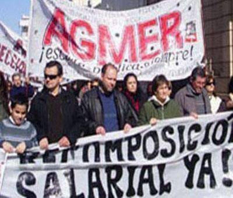 Los docentes nucleados en Agmer definieron dos paros de 48 horas