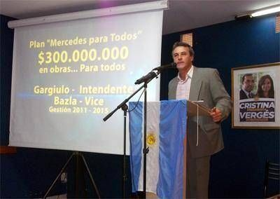 """Gargiulo presentó el Plan """"Mercedes para Todos"""" - $ 300.000.000 en obras púbicas para los próximos 4 años"""