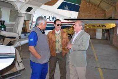 Repararon el Avión Ambulancia de Pico