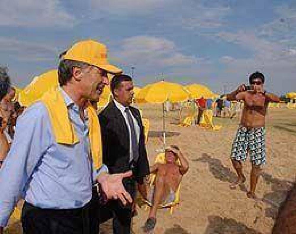 Macri presentó las playas artificiales de Capital