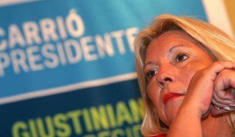 Carrió critica al progresismo que la abandonó