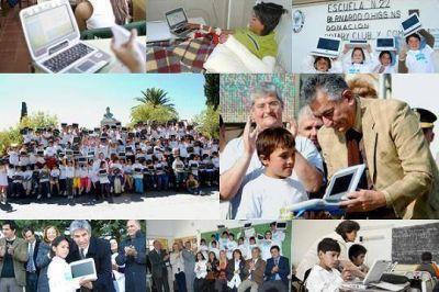 A fines de octubre y noviembre más de 38 mil chicos de Mercedes y San Luis tendrán sus computadoras
