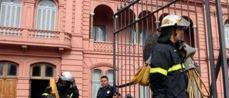 Incendio destruyó algunos archivos en la Casa Rosada