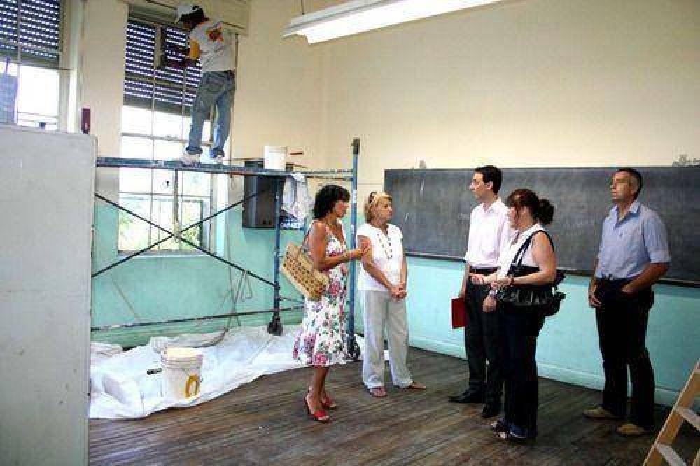 En su centenario: El municipio comenzó los trabajos de mejora edilicia en la Escuela Nro. 16
