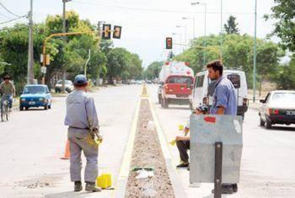 Bulevares Avenida Mitre En apenas dos semanas finalizaron las obras