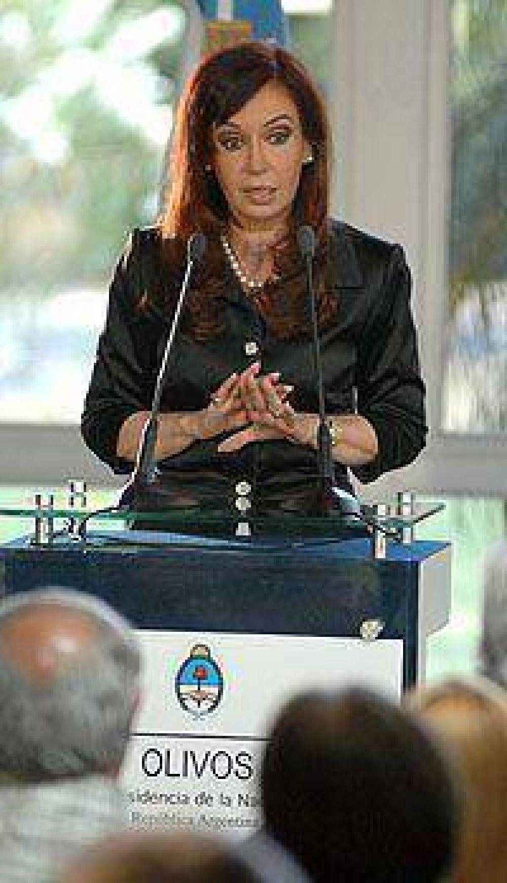 Cristina ratificó que el Gobierno no necesita