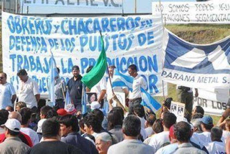 Trabajadores de Paran� Metal reclaman el cumplimiento del acuerdo