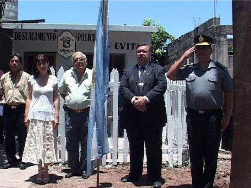 Se inauguró destacamento policial en Caimancito