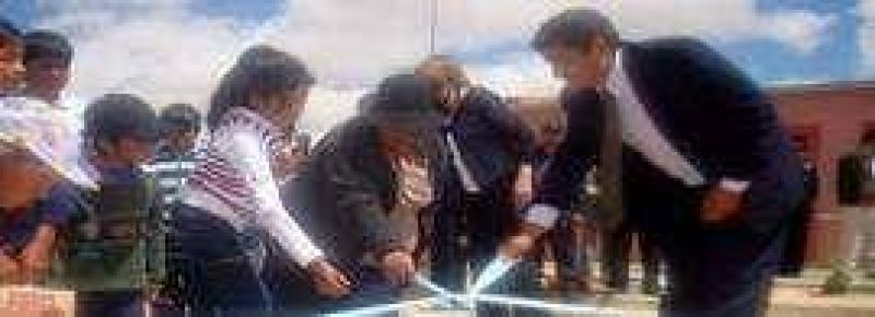 Inauguraron red cloacal en la ciudad de La Quiaca