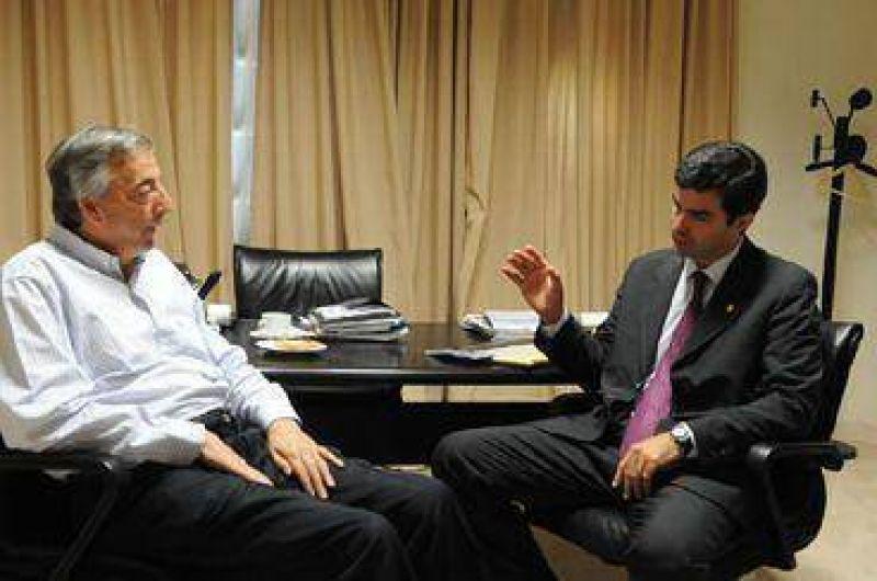 El gobernador Urtubey se reuni� con el titular del PJ Nestor Krchnner.