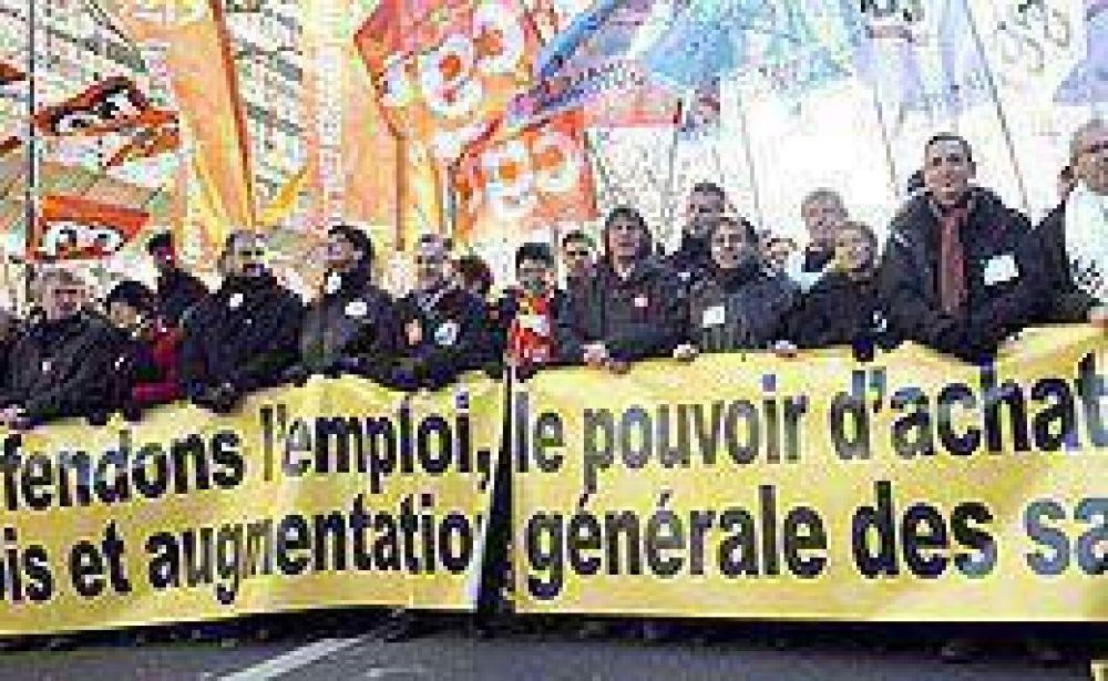 Sarkozy enfrentó una huelga general por su política económica