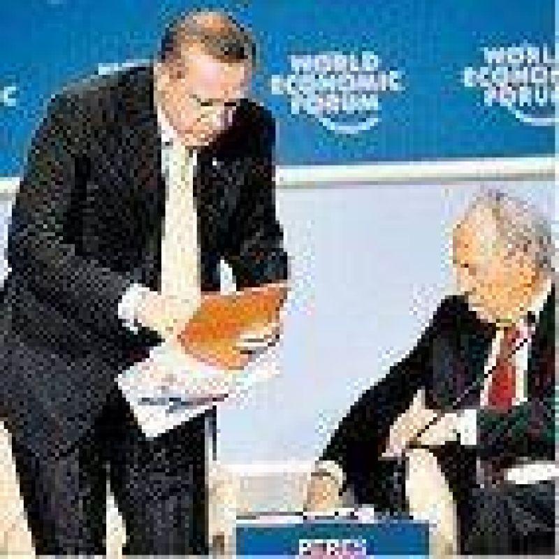 Desplante del premier de Turquía en Davos