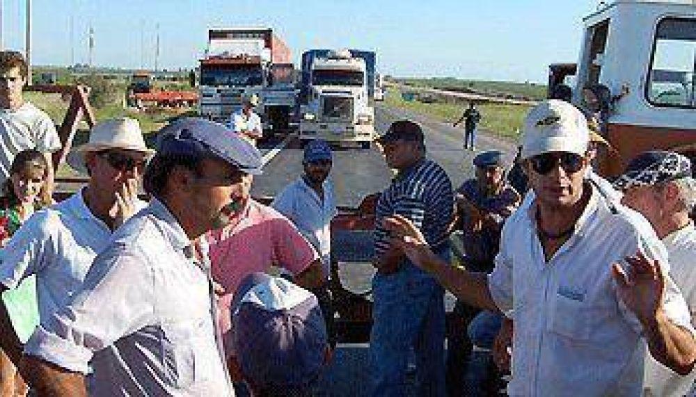 Para los productores rurales la protesta se tornó