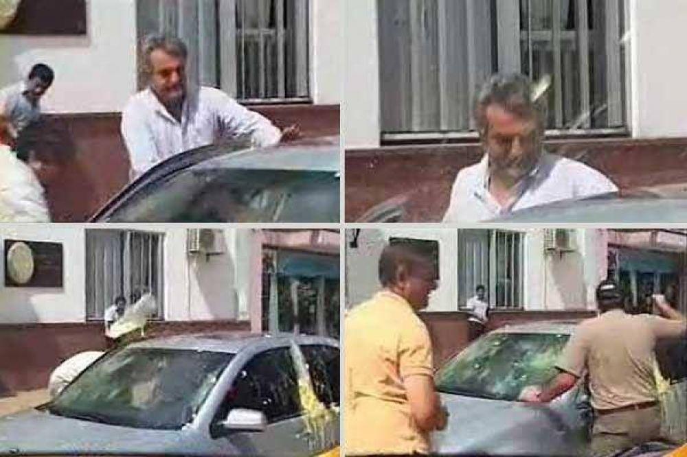 Violento ataque contra Agustín Rossi