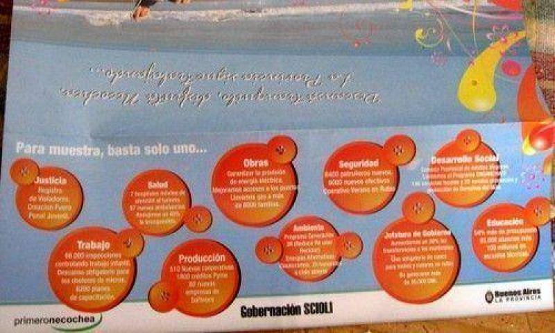 Primero Necochea lanzó un folleto turístico con claro apoyo a Scioli.