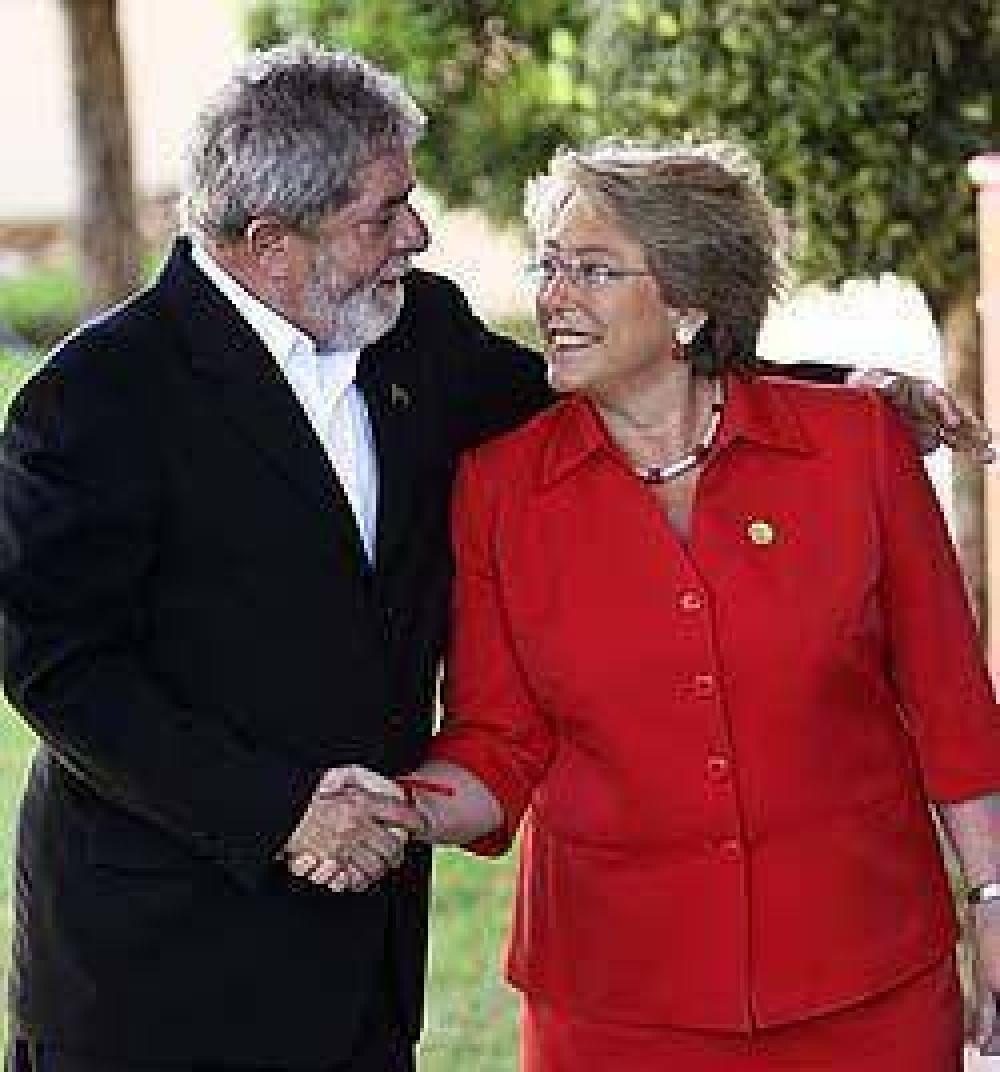 Lula y Bachelet marcan altos niveles de popularidad