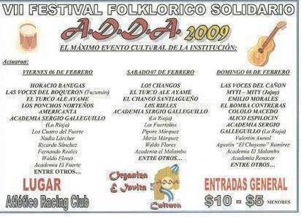 Gran festival solidario de ADDA en Andalgalá