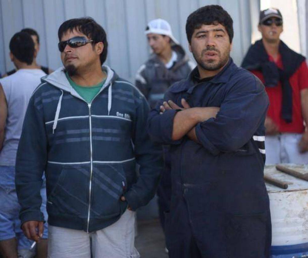 Paro de obreros navales en Astillero de Mar del Plata