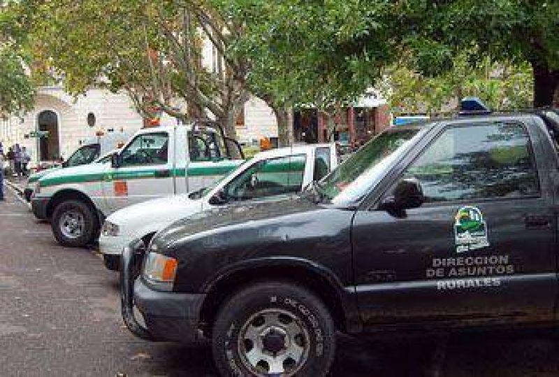 El Municipio puso a disposición de la Policía cinco vehículos.