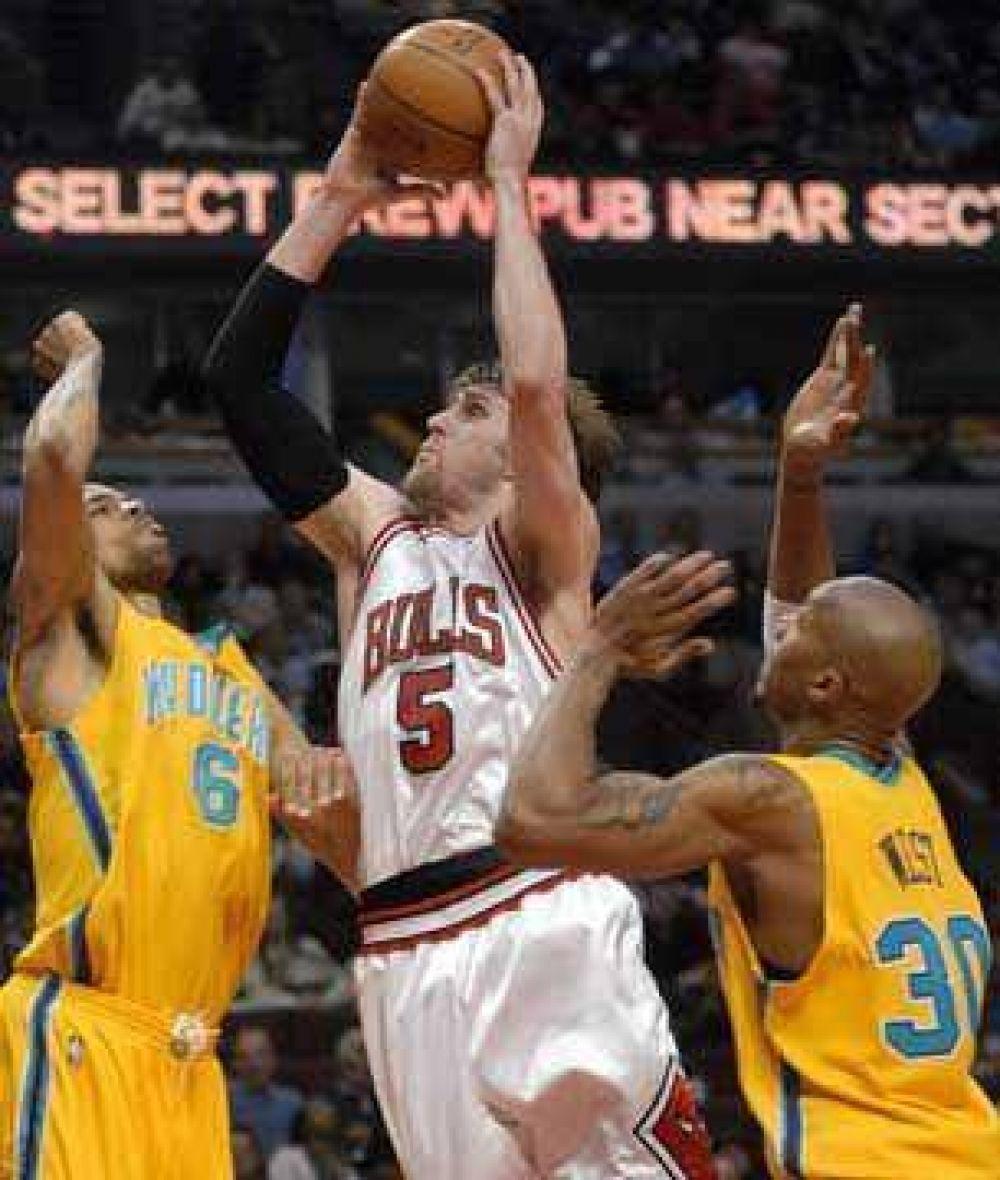 Buena actuación de Nocioni en los Bulls.