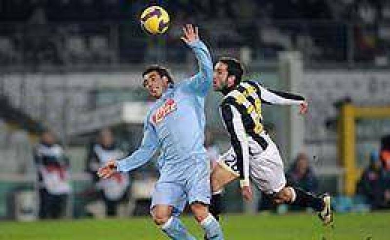 El N�poli de Lavezzi y Denis se qued� afuera de la Copa Italia.