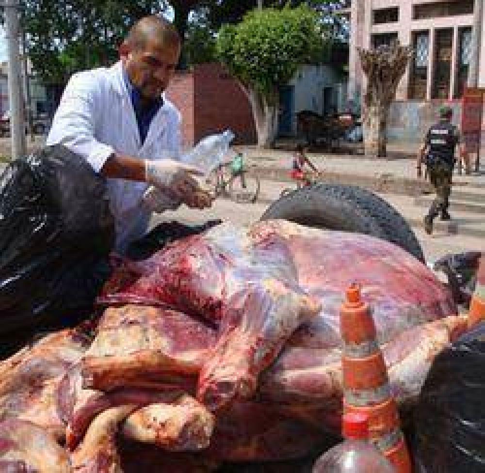 Seis mil kilos de carne decomisados en 90 días
