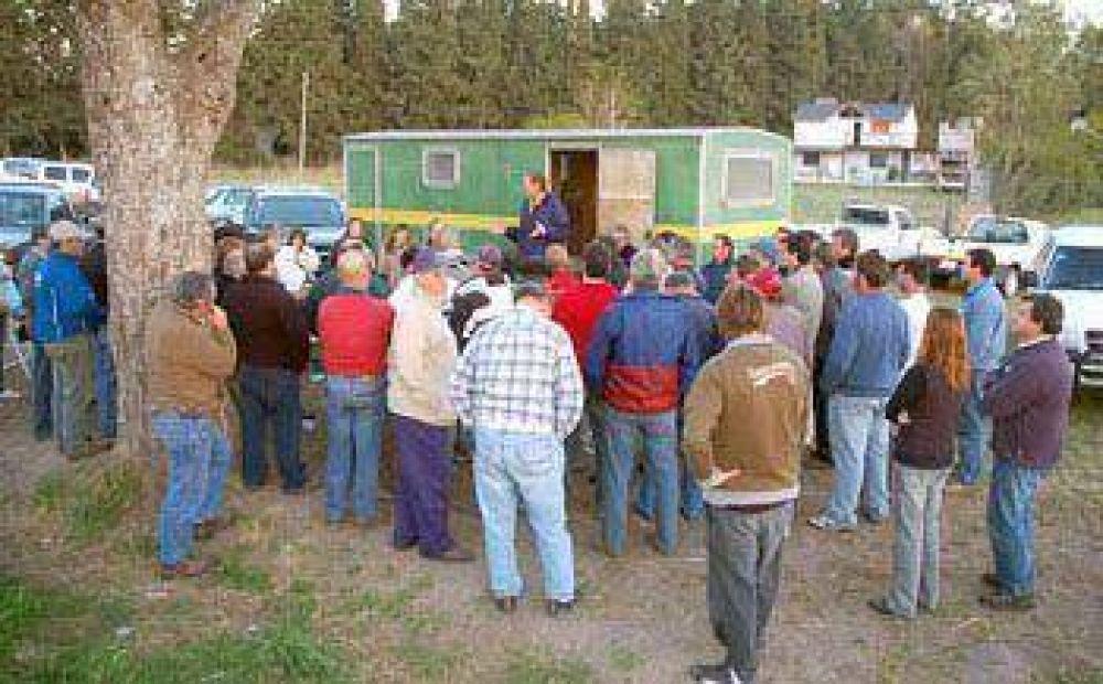 Los productores autoconvocados participaron de una reunión en Santa Fe.