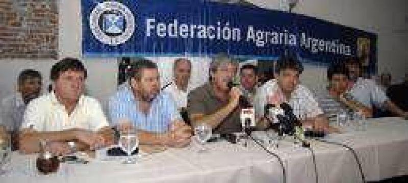 Federaci�n Agraria propone un lock out a partir del 15 de febrero