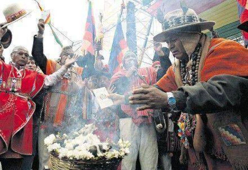 Evo Morales lanzó el