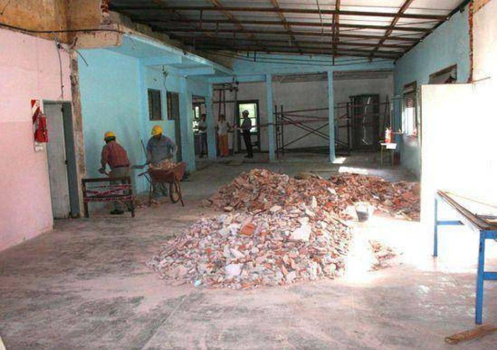 Importantes trabajos de mejora y ampliación se realizan en la Escuela Nro. 13 de La Josefa.
