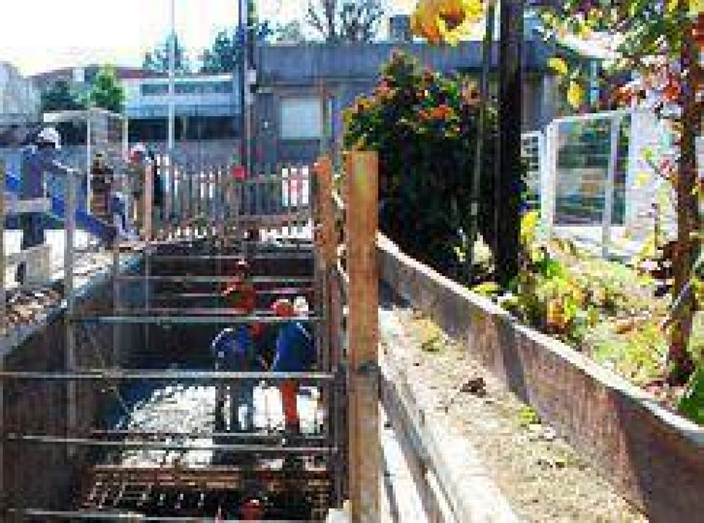 Morón ejecuta obras para evitar futuras inundaciones.
