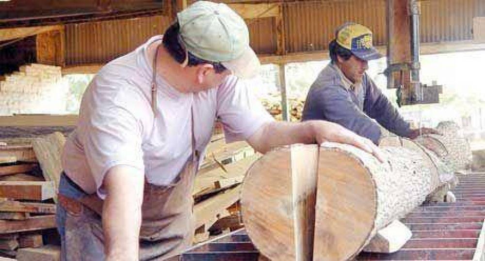Frágil situación laboral de 9.000 trabajadores en la industria maderera
