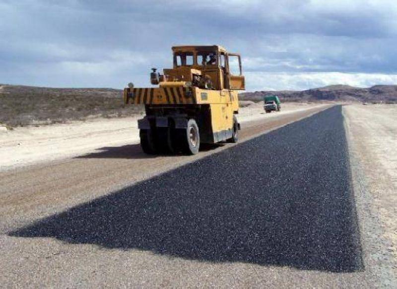 Río Negro: Buen estado de avance de la obra de pavimentación de la ruta provincial Nro. 5.