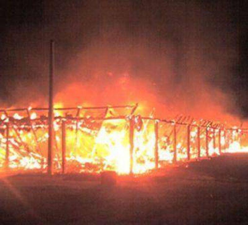 """Fue """"intencional"""" el incendio del quincho de la Rural de Morteros"""
