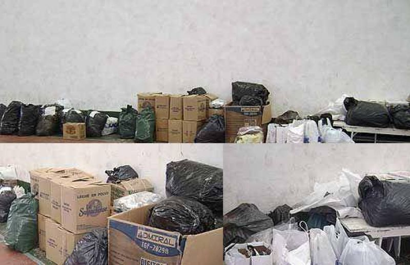 Entrega de donaciones para los damnificados por el alud de Tartagal.