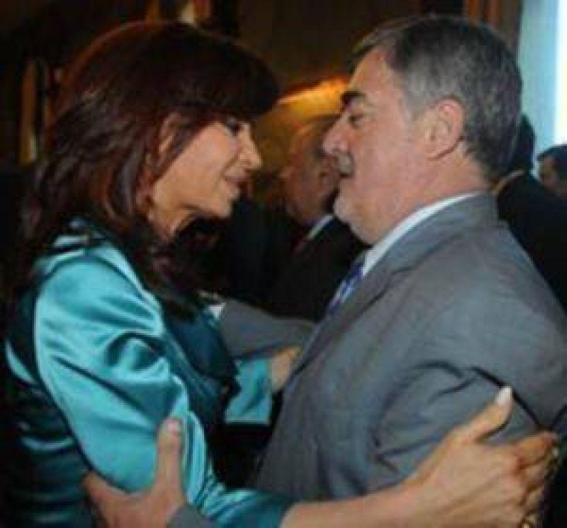 Das Neves visita a Cristina en olivos.