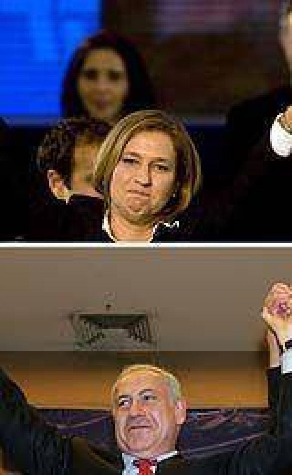 El escrutinio final confirmó el triunfo de Livni, pero Netanyahu se perfila para formar gobierno