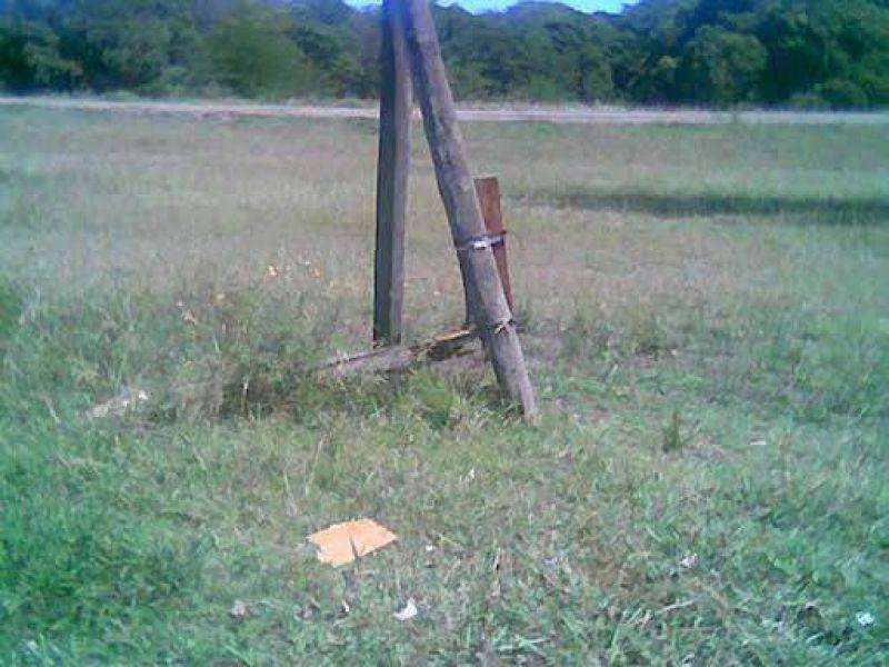 Reclaman urgente reemplazo de un poste de luz.