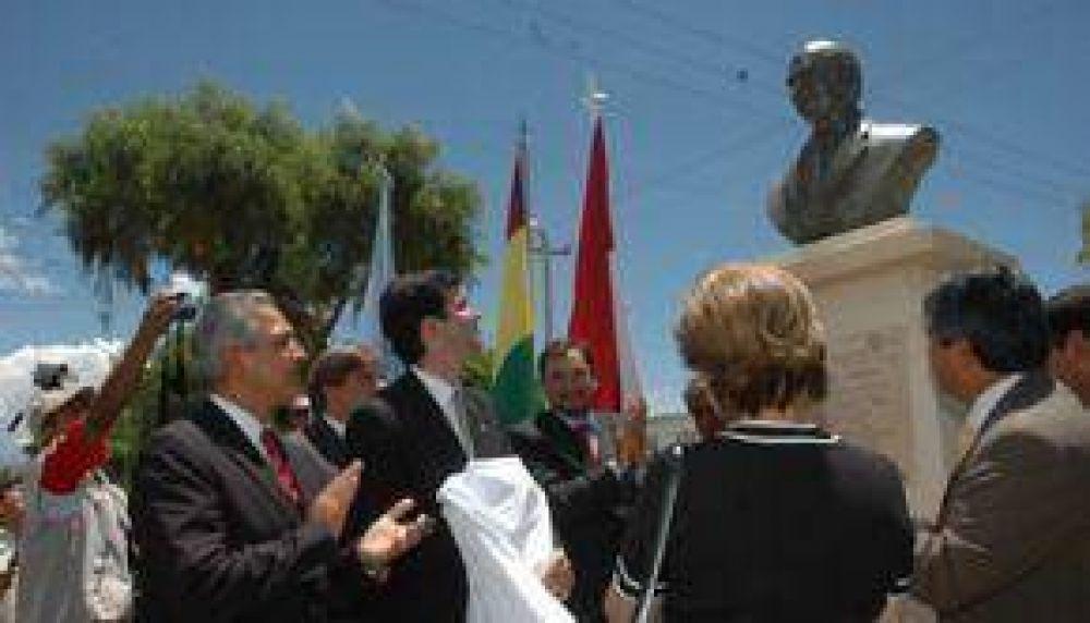 Urtubey y J.C.Romero juntos en un homenaje a R. Romero en Tarija.
