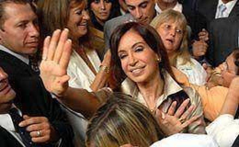 Cristina defendió la obra pública para enfrentar la crisis