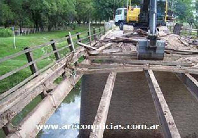 Obras en el Puente del Medio