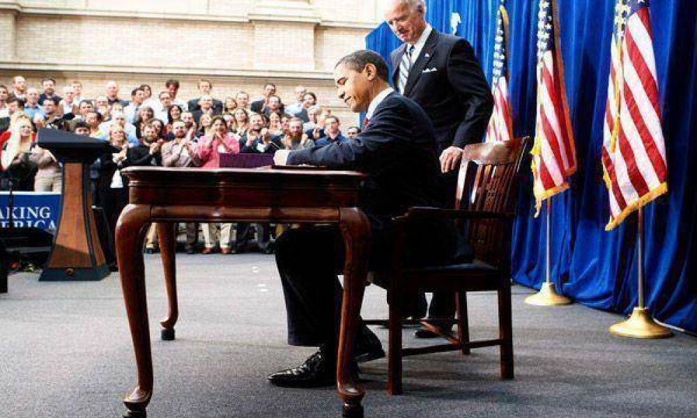 Obama firmó el plan y dijo: