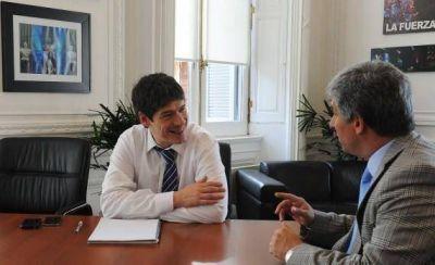 Poggi se reunió con el jefe de Gabinete de la Nación