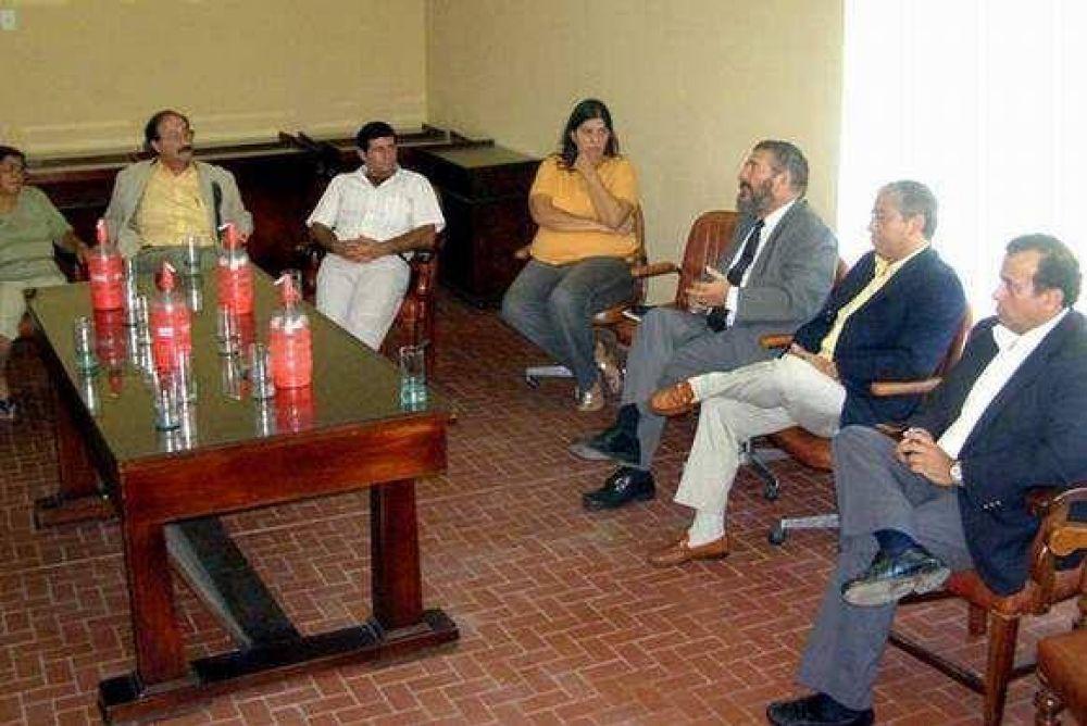 García Goyena se reunió con los concejales