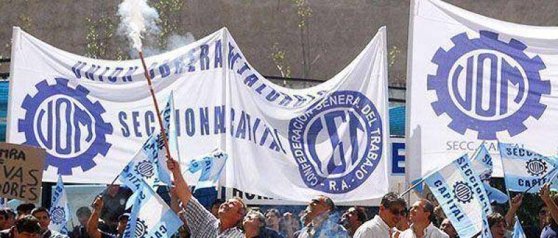 La UOM llamó a un paro para hoy en La Rioja